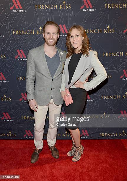Actress Erin Krakow and guest attend The Marriott Content Studio's French Kiss film premiere at the Marina del Rey Marriott on May 19 2015 in Marina...
