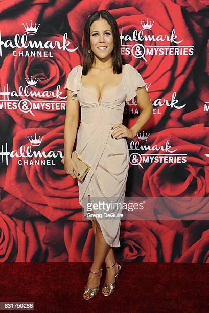 Actress Erin Krakow arrives at Hallmark Channel And Hallmark Movies And Mysteries Winter 2017 TCA Press Tour at The Tournament House on January 14,...
