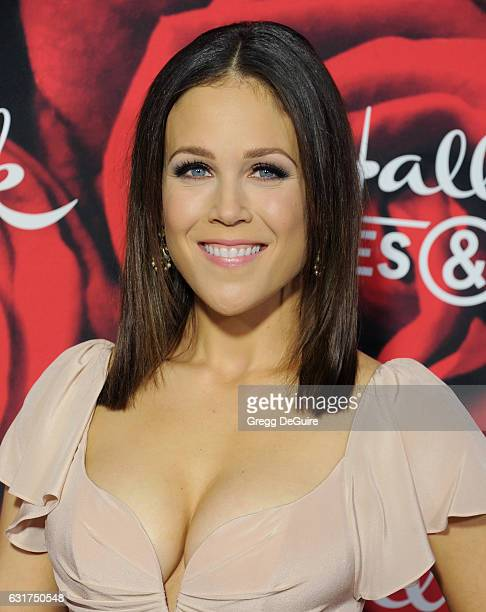 Actress Erin Krakow arrives at Hallmark Channel And Hallmark Movies And Mysteries Winter 2017 TCA Press Tour at The Tournament House on January 14...