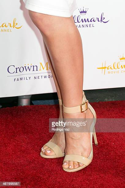 Actress Erin Krakow arrives at the Hallmark Channel Hallmark Movie Channel 2014 Winter TCA Party at The Huntington Library and Gardens on January 11...