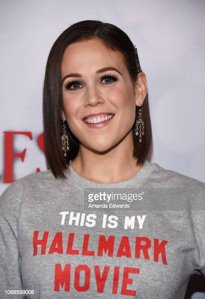 Actress Erin Krakow arrives at the Hallmark Channel Once Upon A Christmas Miracle screening and holiday party at 189 by Dominique Ansel on December 4...