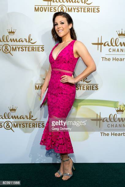 Actress Erin Krakow arrives for the 2017 Summer TCA Tour Hallmark Channel And Hallmark Movies And Mysteries on July 27 2017 in Beverly Hills...