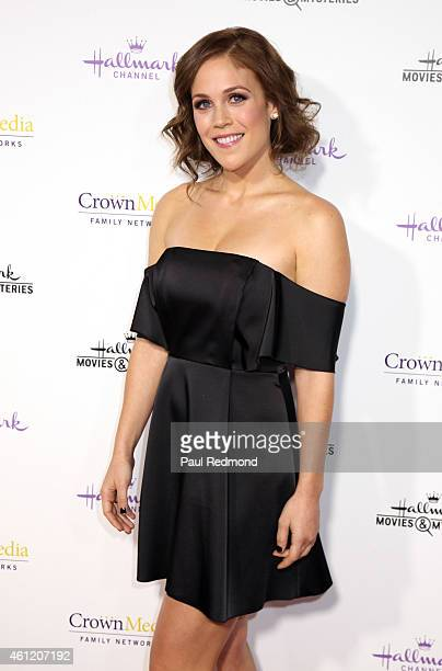 Actress Erin Krakow attends the 2015 Television Critics Association Press Tour Hallmark Channel and Hallmark Movies Mysteries at Tournament House on...