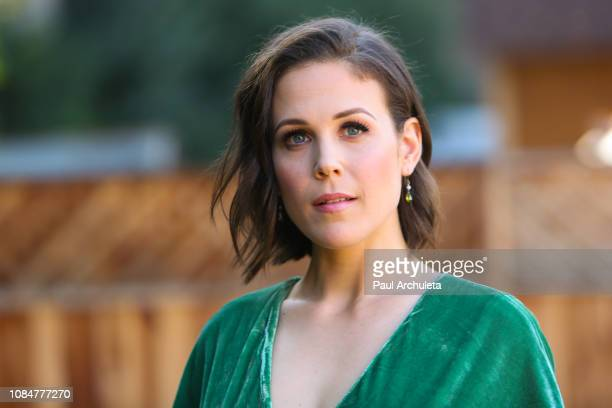 Actress Erin Krakow visits Hallmark's Home Family at Universal Studios Hollywood on December 19 2018 in Universal City California