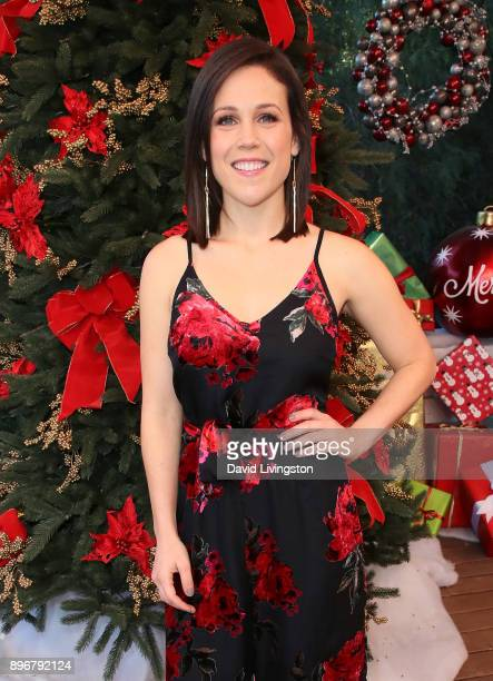Actress Erin Krakow visits Hallmark's 'Home Family' at Universal Studios Hollywood on December 21 2017 in Universal City California