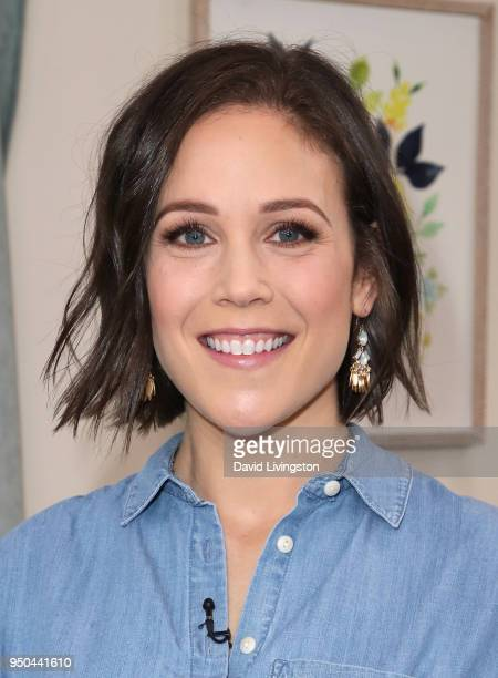 Actress Erin Krakow visits Hallmark's Home Family at Universal Studios Hollywood on April 23 2018 in Universal City California