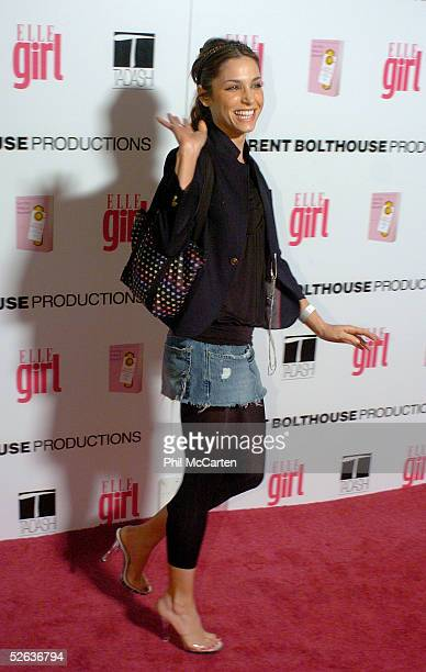 Actress Erin Lokitz arrives at the First Annual ELLEGIRL Hollywood Prom party held at the Hollywood Athletic Club on April 14 2005 in Hollywood...