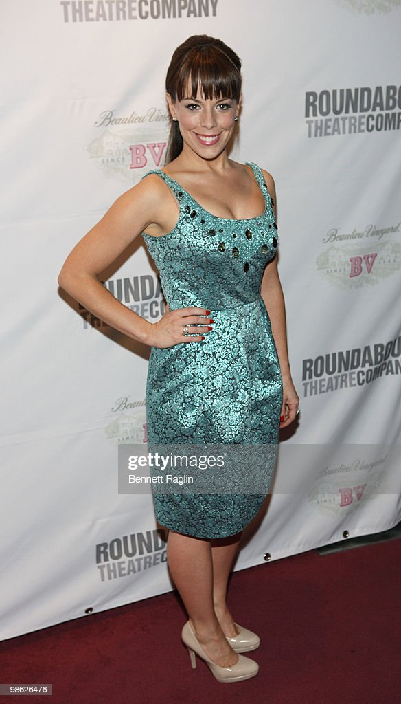 Actress Erin Mackey attends the opening of 'Sondheim on Sondheim' at the Studio 54 on April 22, 2010 in New York City.