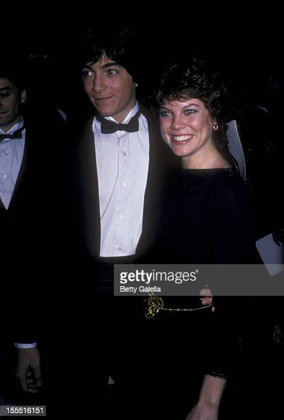 Actress Erin Moran and actor Scott Baio attend 38th Annual Golden Globe Awards on January 31 1982 at the Beverly Hilton Hotel in Beverly Hills...
