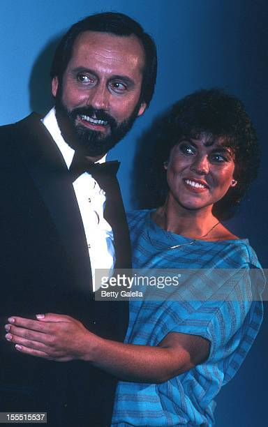 Actress Erin Moran and Ray Stevens attend 17th Annual Academy of Country Music Awards on April 29 1982 at Knott's Berry Farm in Buena Park California