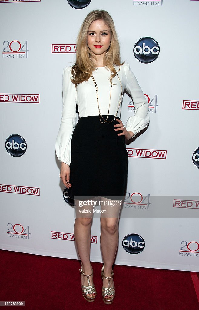 Actress Erin Moriarty attends ABC's 'Red Widow' Red Carpet Event at Romanov Restaurant Lounge on February 26, 2013 in Studio City, California.