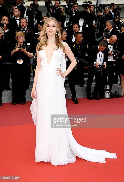 Actress Erin Moriarty attends the closing ceremony of the 69th annual Cannes Film Festival at the Palais des Festivals on May 22 2016 in Cannes France
