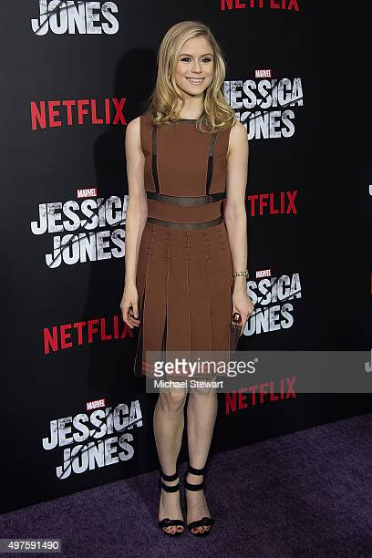 Actress Erin Moriarty attends the Jessica Jones series premiere at Regal EWalk on November 17 2015 in New York City