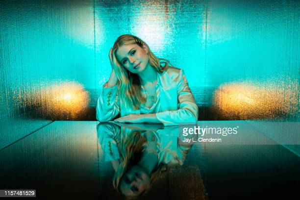 Actress Erin Moriarty from 'The Boys' are photographed for Los Angeles Times at ComicCon International on July 20 2019 in San Diego California...