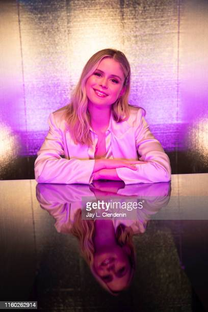 Actress Erin Moriarty of 'The Boys' are photographed for Los Angeles Times at ComicCon International on July 20 2019 in San Diego California...