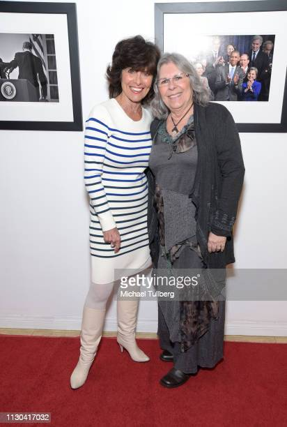 Actress Erin Murphy and Jocelyn Merz attend the opening of photographer Anna Wilding's new exhibition Celebrate Hope The Obama White House Collection...