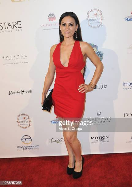 Actress Erin O'Brien attends the Amare's Second Year Anniversary 'Believe Issue' Party held at Sofitel Los Angeles At Beverly Hills on December 13...