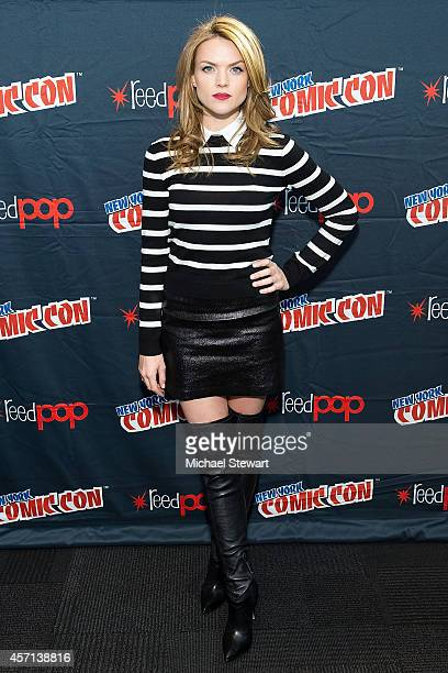 Actress Erin Richards attends Fox Network's 'Gotham' press room at 2014 New York Comic Con Day 4 at Jacob Javitz Center on October 12 2014 in New...