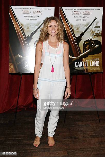 Actress Erin Richards attends Seth Meyers With The Orchard The Cinema Society Host A Special Screening Of 'Cartel Land' at Tribeca Grand Screening...