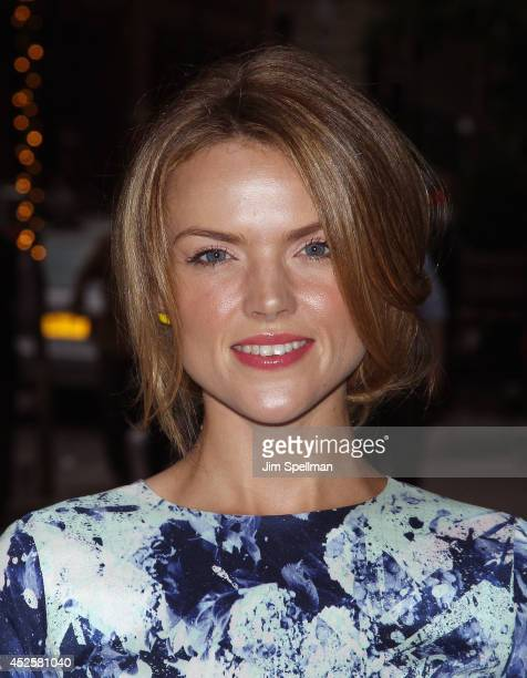 Actress Erin Richards attends the Cinema Society Screening Of 'The Honorable Woman' at Crosby Street Hotel on July 23 2014 in New York City