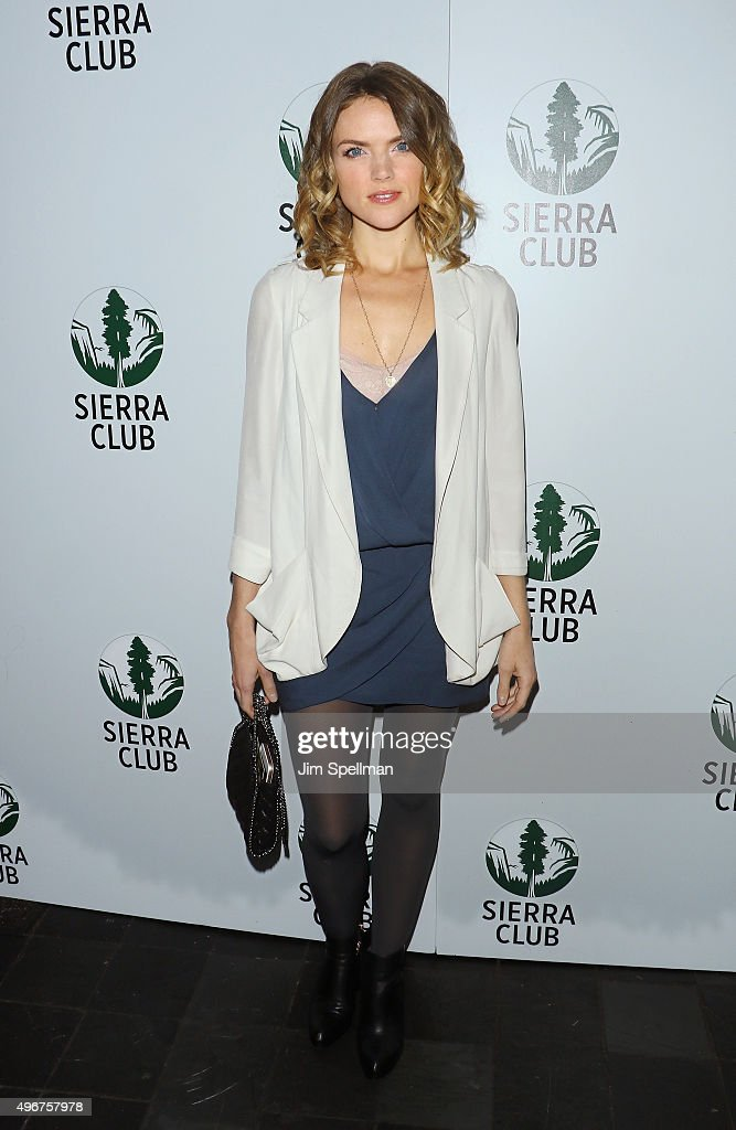 Actress Erin Richards attends the Sierra Club's Act In Paris, a night of comedy and climate action at Heath at the McKittrick Hotel on November 11, 2015 in New York City.