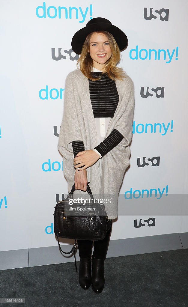 Actress Erin Richards attends the USA Network hosts the premiere of 'Donny!' at The Rainbow Room on November 3, 2015 in New York City.