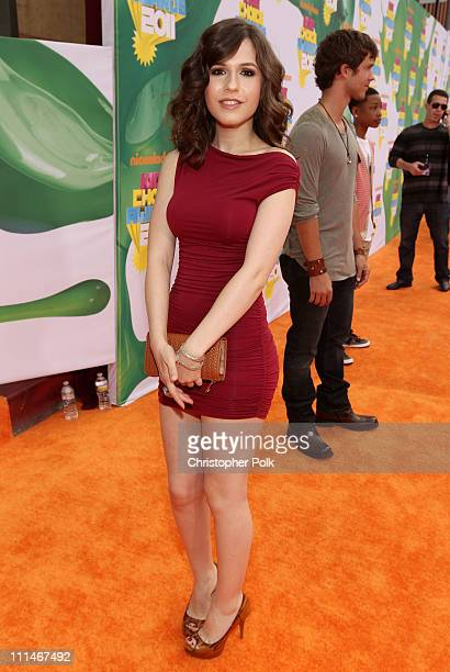 Actress Erin Sanders arrives at Nickelodeon's 24th Annual Kids' Choice Awards at Galen Center on April 2 2011 in Los Angeles California