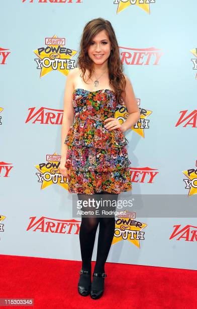 Actress Erin Sanders arrives at Variety's 3rd annual 'Power of Youth' event held at Paramount Studios on December 5 2009 in Los Angeles California