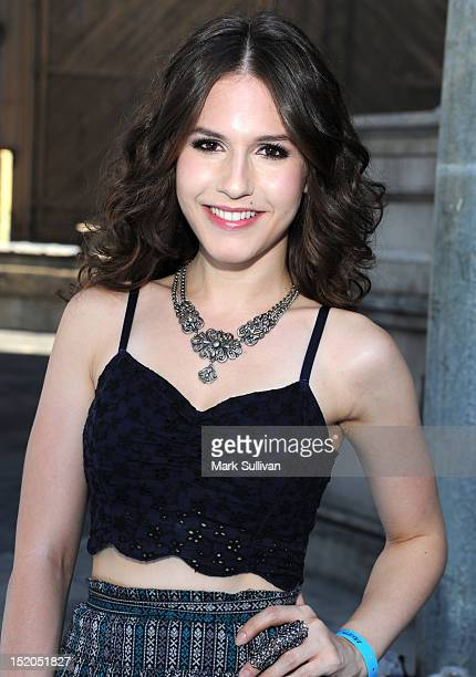 Actress Erin Sanders arrives at Variety's Power of Youth presented by Cartoon Network held at Paramount Studios on September 15 2012 in Hollywood...