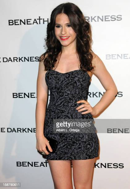 Actress Erin Sanders arrives for the Los Angeles Premiere Of 'Beneath The Darkness' held at the Egyptian Theater on January 4 2012 in Hollywood...