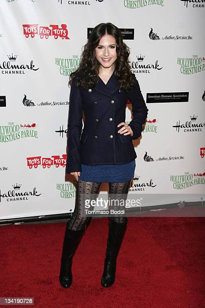 Actress Erin Sanders attends the 80th anniversary Hollywood Christmas parade benefiting Marine Toys For Tots on November 27 2011 in Hollywood...