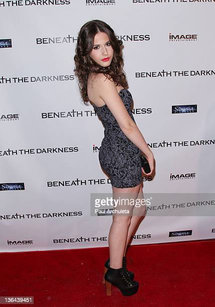 Actress Erin Sanders attends the 'Beneath The Darkness' world premiere at American Cinematheque's Egyptian Theatre on January 4 2012 in Hollywood...