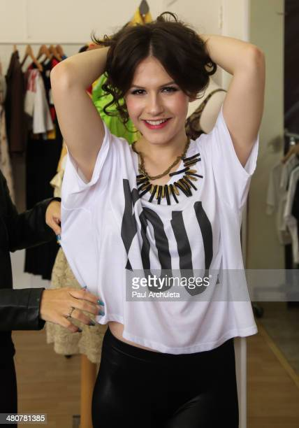 Actress Erin Sanders attends the Girl Scouts of America's Girl Scout Cookie Championship giveaway winner presentation on March 26 2014 in Los Angeles...