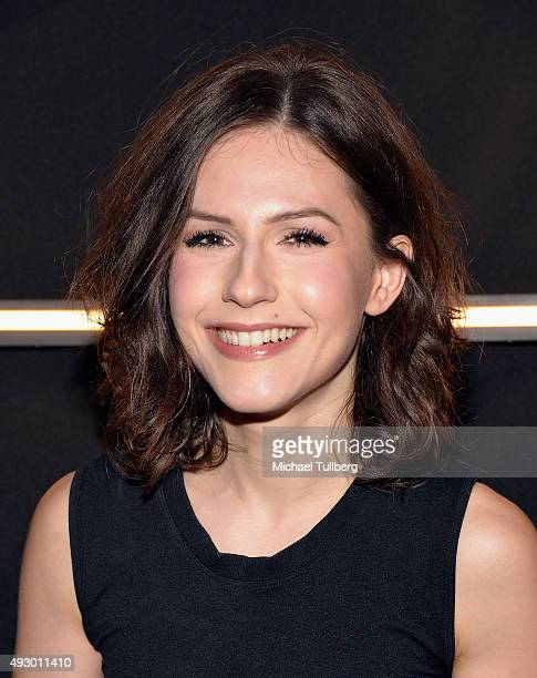 Actress Erin Sanders attends the opening night of 'The Alone Experience Absorption' Halloween Haunt on October 16 2015 in Los Angeles California