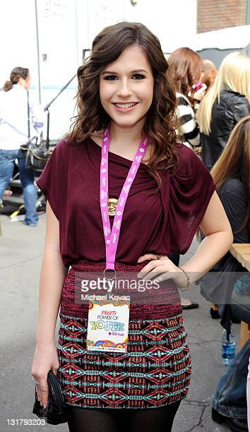 Actress Erin Sanders attends Variety's 4th Annual Power of Youth event at Paramount Studios on October 24 2010 in Hollywood California