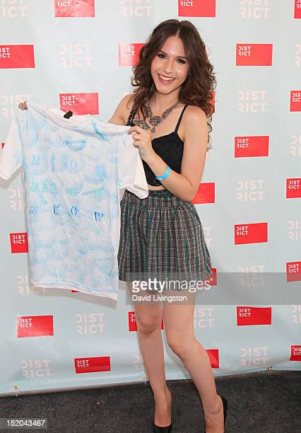 Actress Erin Sanders attends Variety's Power of Youth presented by Cartoon Network held at Paramount Studios on September 15 2012 in Hollywood...