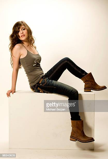 Actress Erin Sanders poses during a photo shoot on April 8 2010 in Los Angeles California
