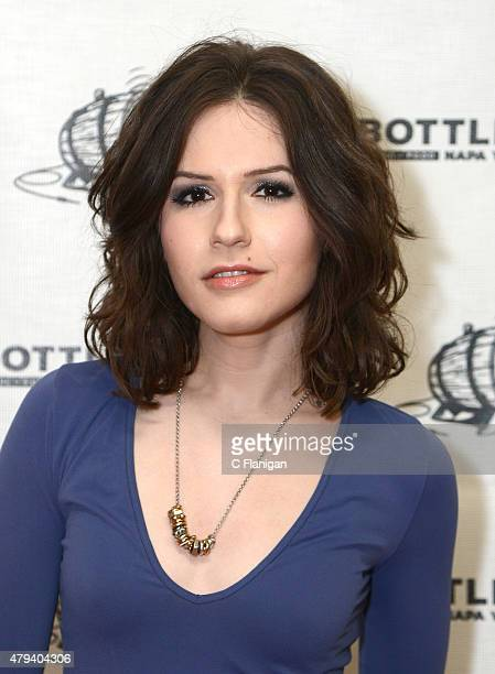 Actress Erin Sanders poses in the press room at the 2015 Bottle Rock Napa Valley Music Festival at Napa Valley Expo on May 30 2015 in Napa California