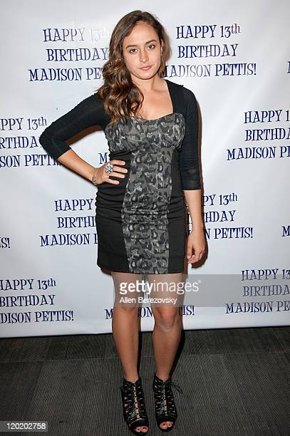 Actress Erin Unger arrives at the Madison Pettis's 13th birthday party at Eden on July 31 2011 in Hollywood California