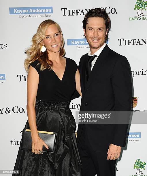 Actress Erinn Bartlett and actor Oliver Hudson attends the 2014 Baby2Baby gala at The Book Bindery on November 8 2014 in Culver City California
