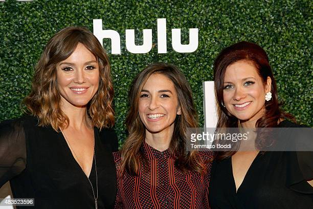 Actress Erinn Hayes and Executive Producers Danielle Schneider and Dannah Phirman attend the Hulu 2015 Summer TCA Presentation at The Beverly Hilton...