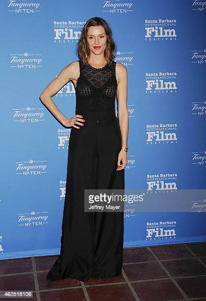 Actress Erinn Hayes attends the 30th Santa Barbara International Film Festival 'Cinema Vanguard' award for 'The Theory of Everything' at the...