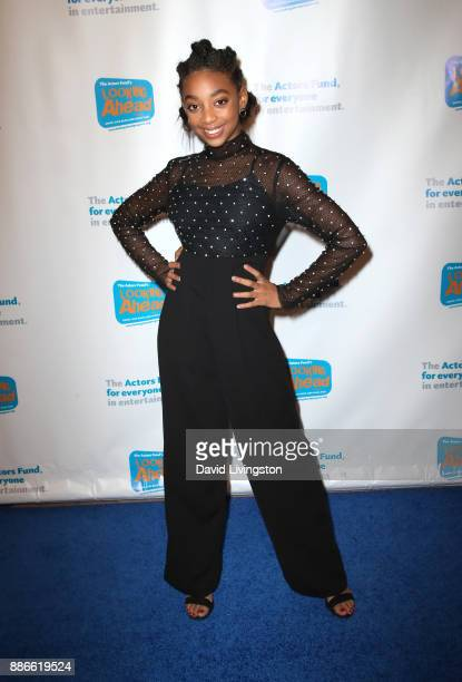 Actress Eris Baker attends The Actors Fund's 2017 Looking Ahead Awards honoring the youth cast of NBC's 'This Is Us' at Taglyan Complex on December 5...
