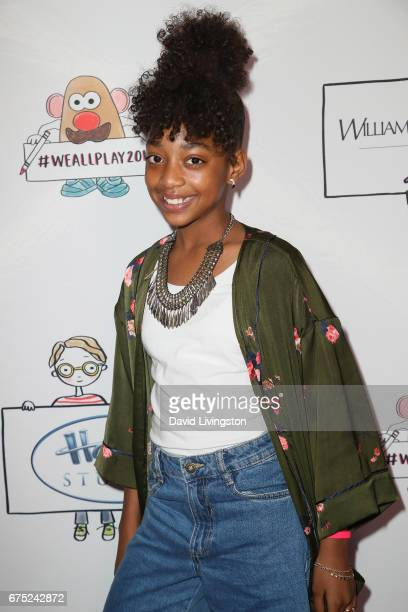 Actress Eris Baker attends the WE ALL PLAY FUNdraiser hosted by the Zimmer Children's Museum at the Zimmer Children's Museum on April 30 2017 in Los...