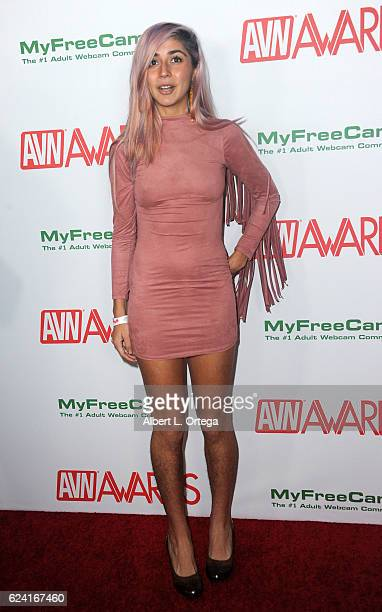 Actress Erotic Eevee arrives for the 2017 AVN Awards Nomination Party held at Avalon on November 17 2016 in Hollywood California