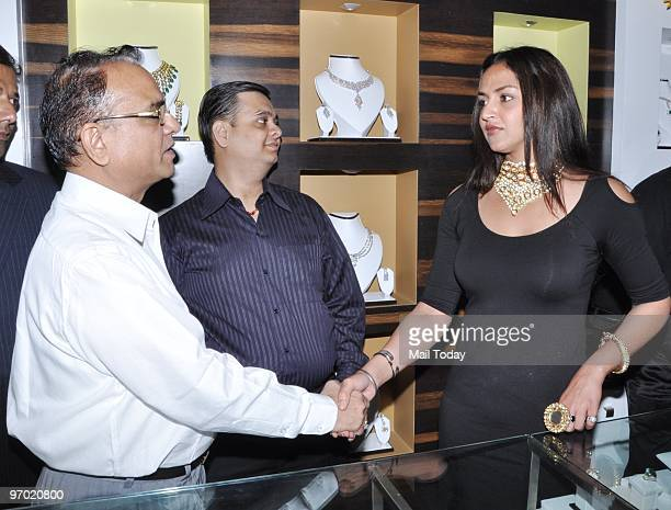 Actress Esha Deol at the launch of a jewellery collection in Mumbai on February 21 2010