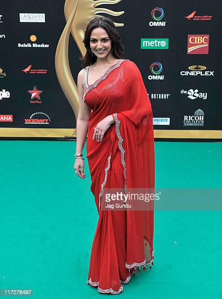 Actress Esha Deol attends the IIFA Fashion Rocks green Carpet at the Heritage Court Exhibition Place on June 24 2011 in Toronto Canada
