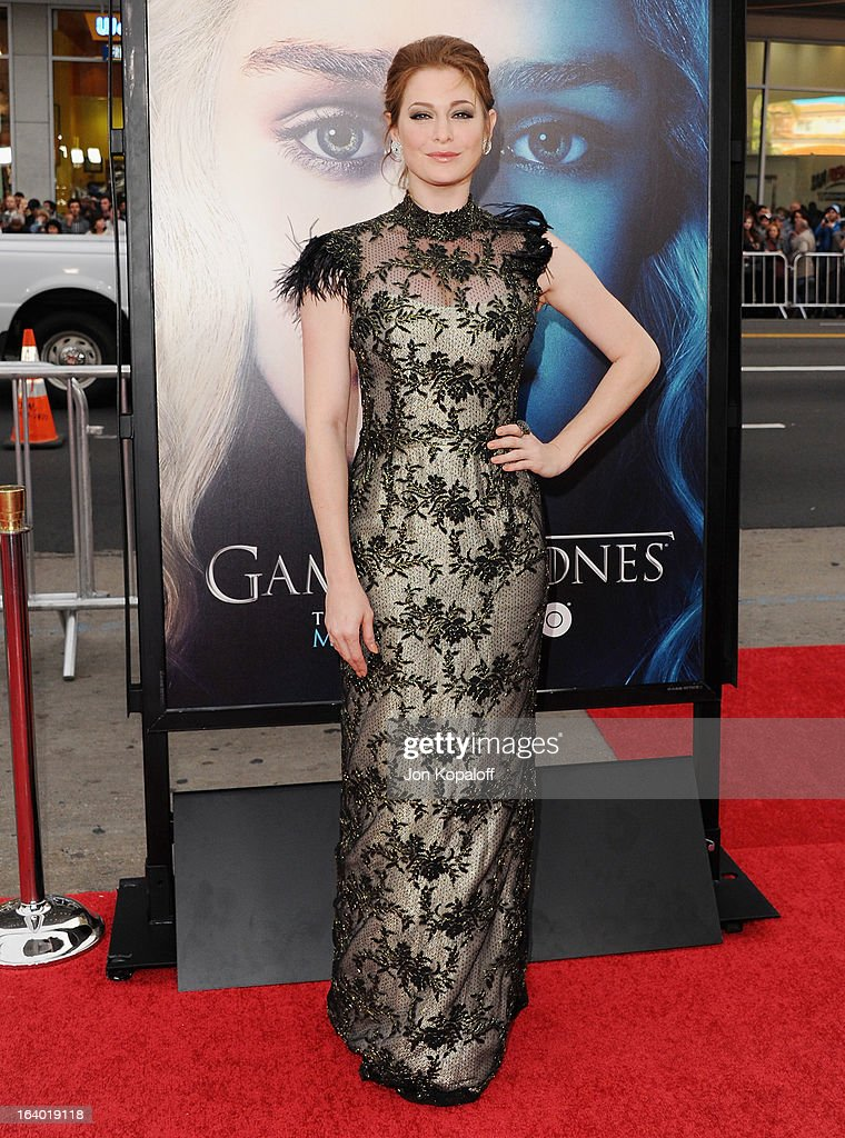 Actress Esme Bianco arrives at the Los Angeles Premiere of HBO's 'Game Of Thrones' Season 3 at TCL Chinese Theatre on March 18, 2013 in Hollywood, California.