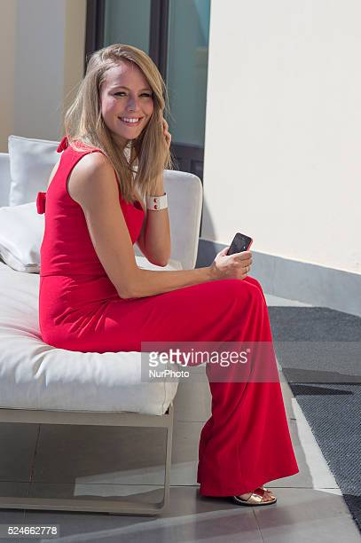 Actress Esmeralda Moya attends 'Solo Quimica' photocall at Innside hotel on July 14 2015 in Madrid Spain
