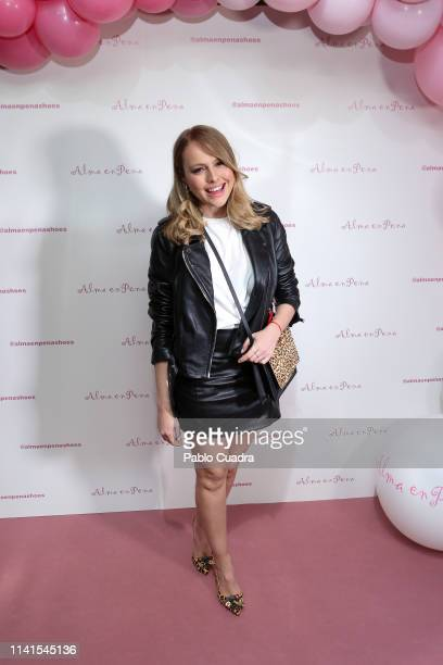 Actress Esmeralda Moya attends the concert of Nancys Rubias at Barcelo Theater on April 09 2019 in Madrid Spain